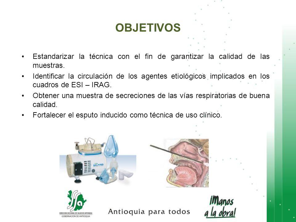 OBJETIVOS Estandarizar la técnica con el fin de garantizar la calidad de las muestras.