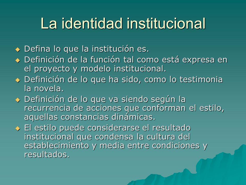 La identidad institucional