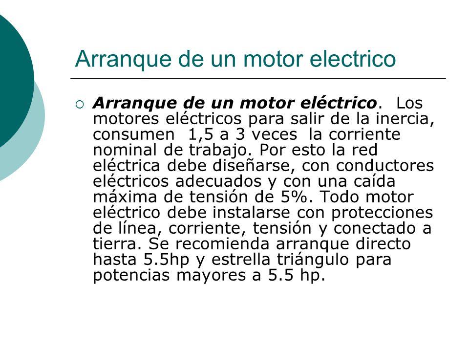 Arranque de un motor electrico
