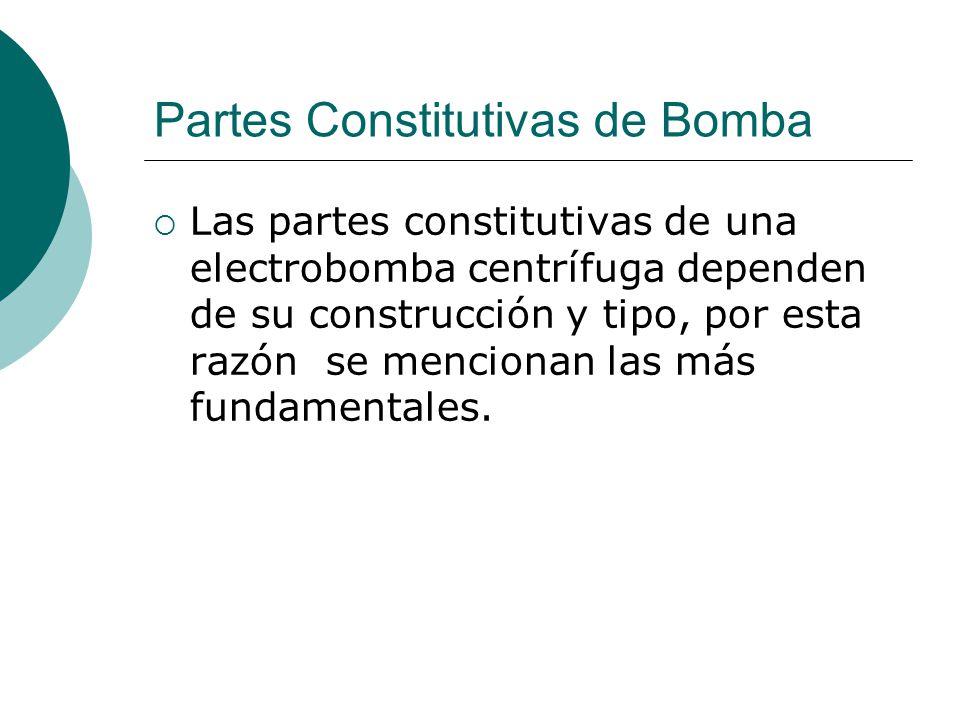 Partes Constitutivas de Bomba