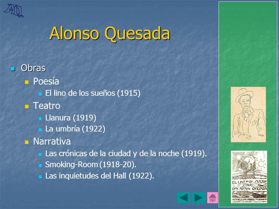 Alonso Quesada Obras Poesía Teatro Narrativa