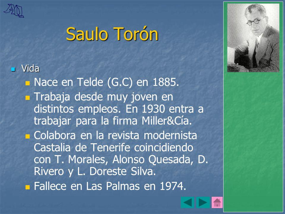 Saulo Torón Nace en Telde (G.C) en 1885.