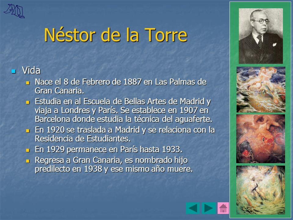 Néstor de la Torre Vida. Nace el 8 de Febrero de 1887 en Las Palmas de Gran Canaria.