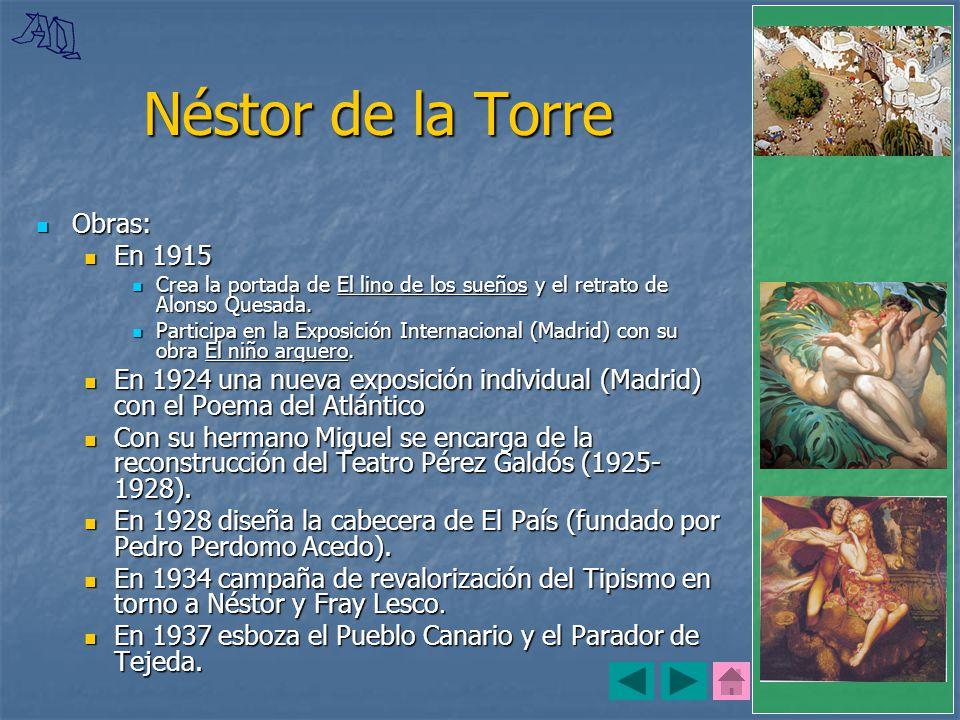 Néstor de la Torre Obras: En 1915