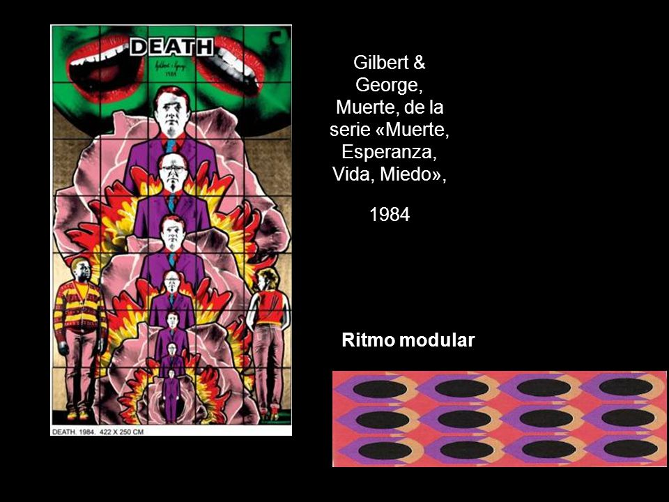 Gilbert & George, Muerte, de la serie «Muerte, Esperanza, Vida, Miedo», 1984