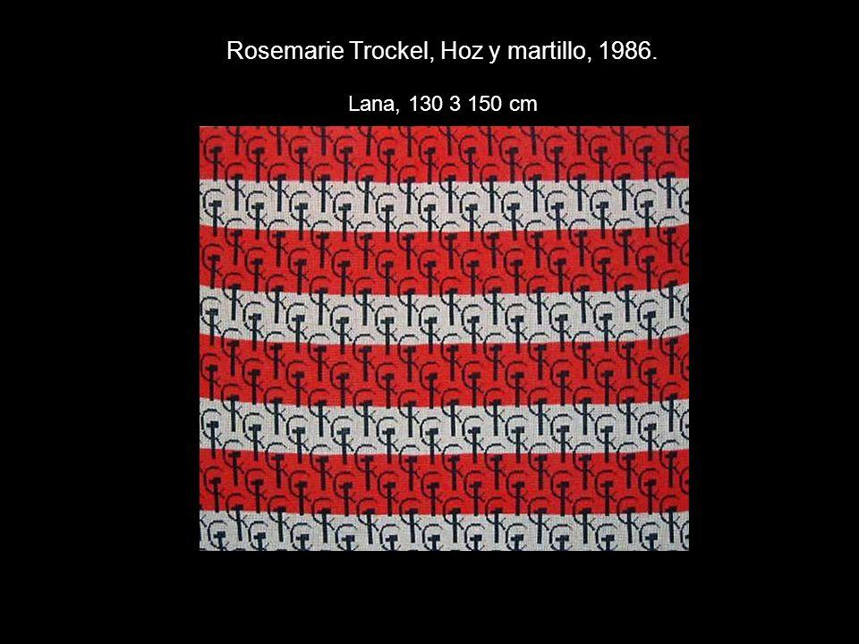Rosemarie Trockel, Hoz y martillo, 1986. Lana, 130 3 150 cm