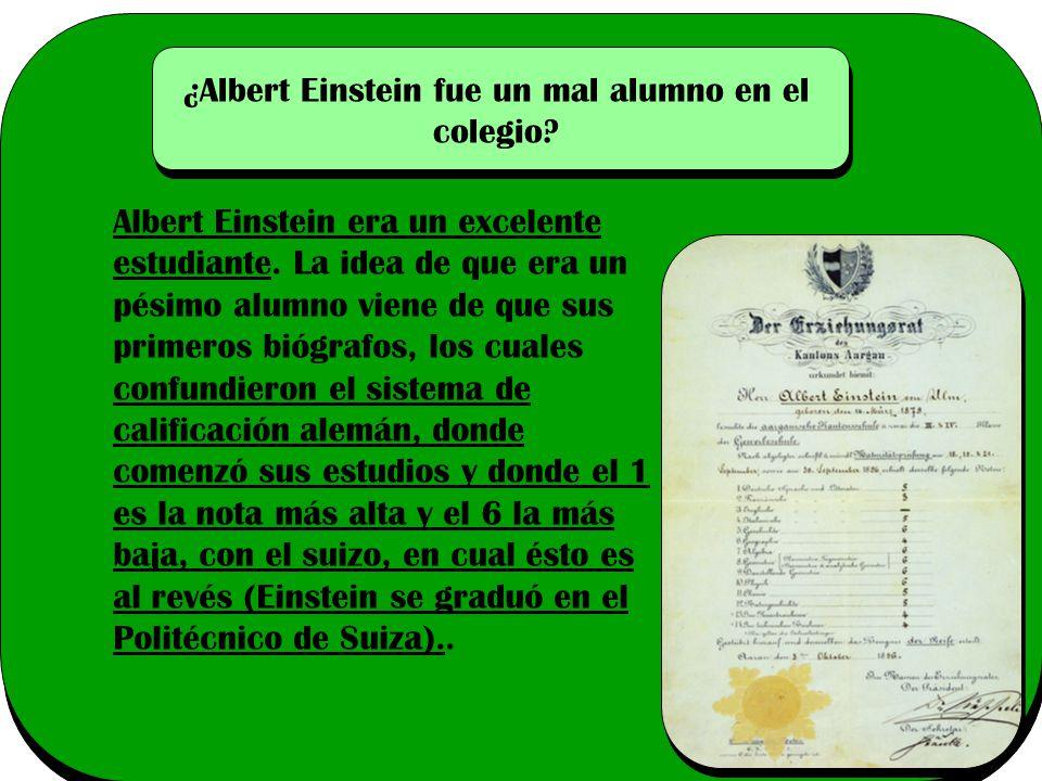 ¿Albert Einstein fue un mal alumno en el colegio