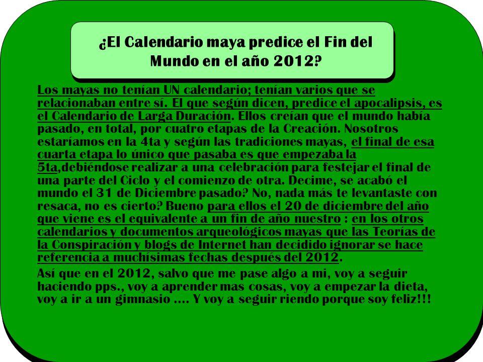 ¿El Calendario maya predice el Fin del Mundo en el año 2012