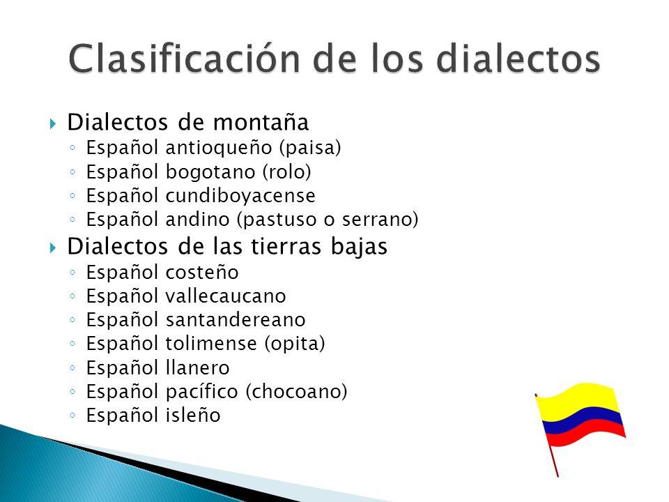 Clasificación de los dialectos