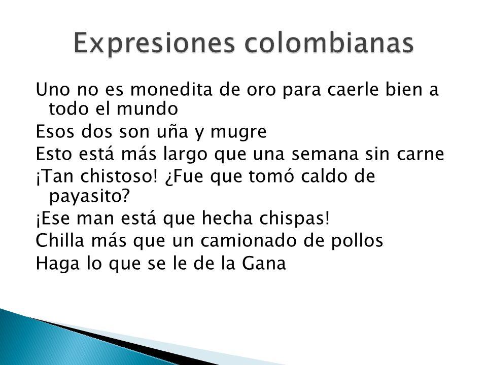Expresiones colombianas