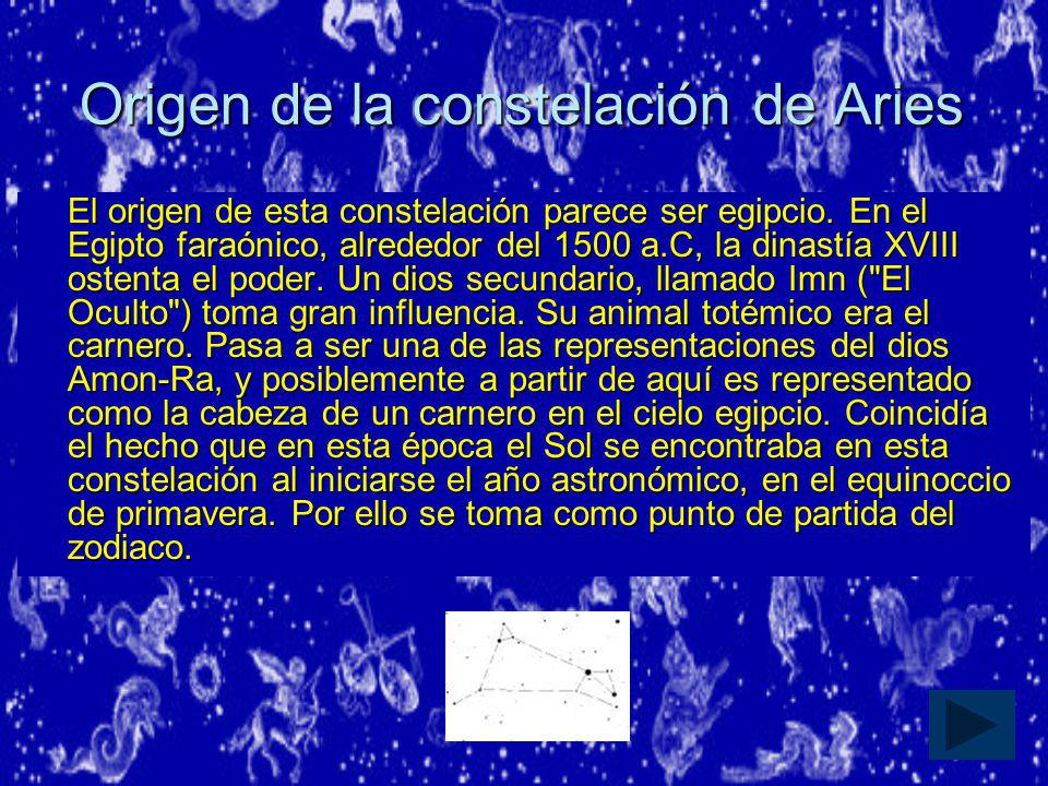Origen de la constelación de Aries