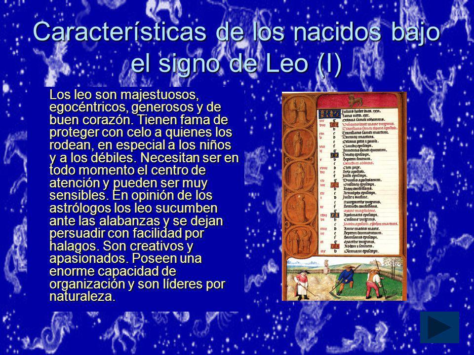 Características de los nacidos bajo el signo de Leo (I)
