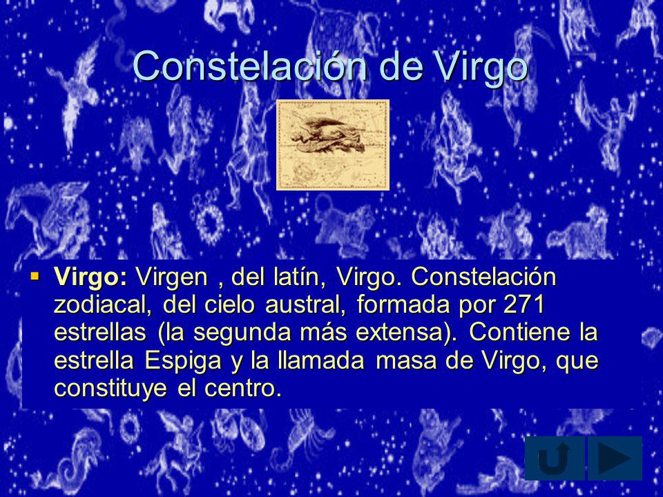 Constelación de Virgo