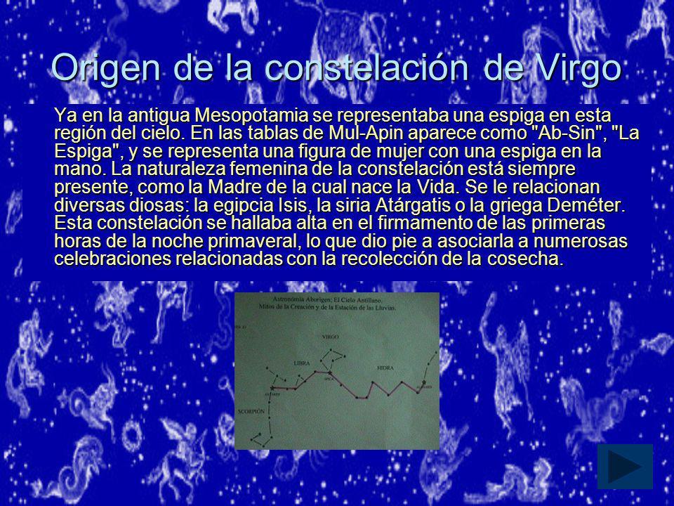 Origen de la constelación de Virgo