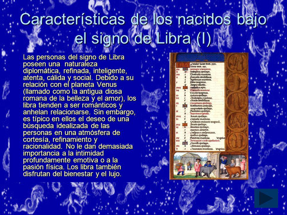 Características de los nacidos bajo el signo de Libra (I)