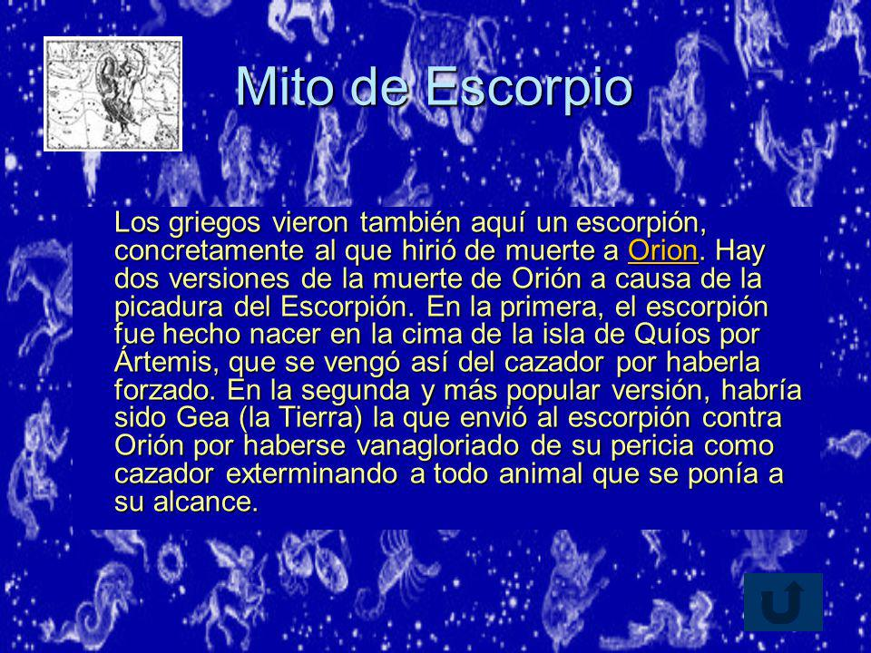 Mito de Escorpio