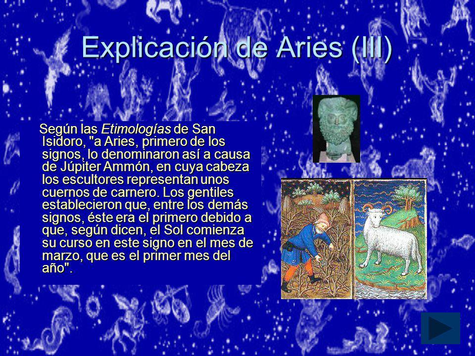 Explicación de Aries (III)