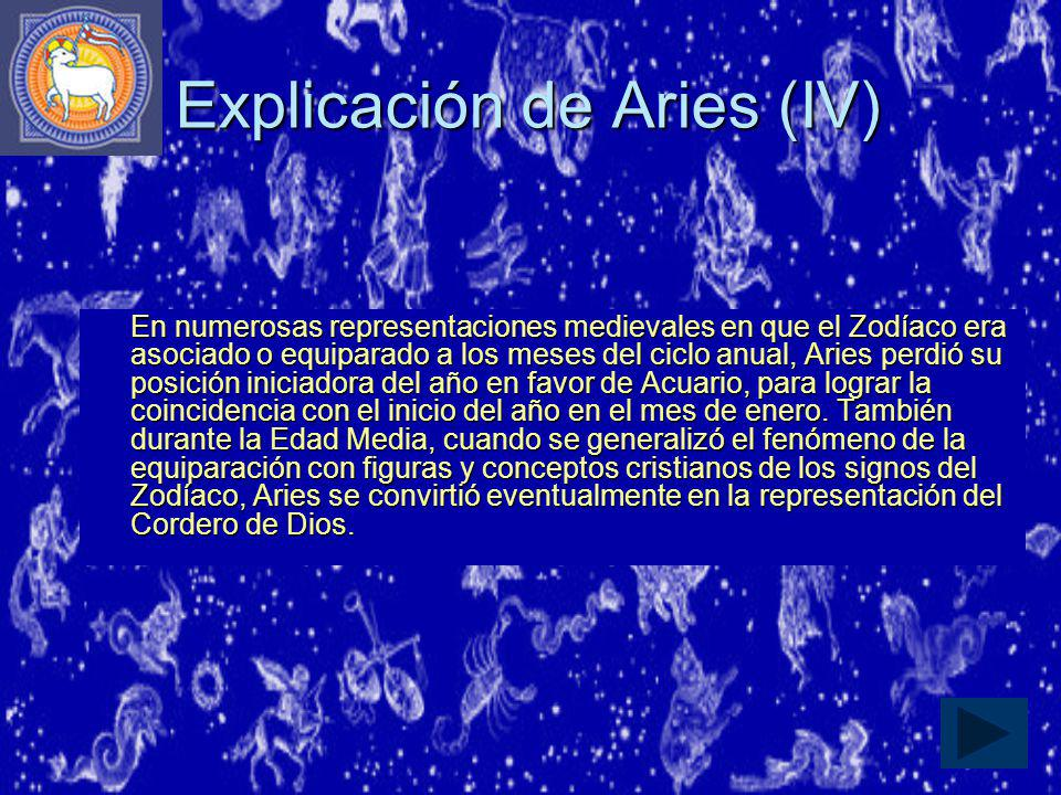 Explicación de Aries (IV)