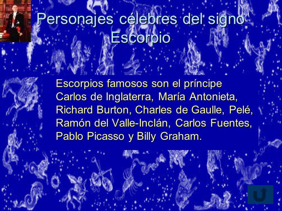 Personajes célebres del signo Escorpio
