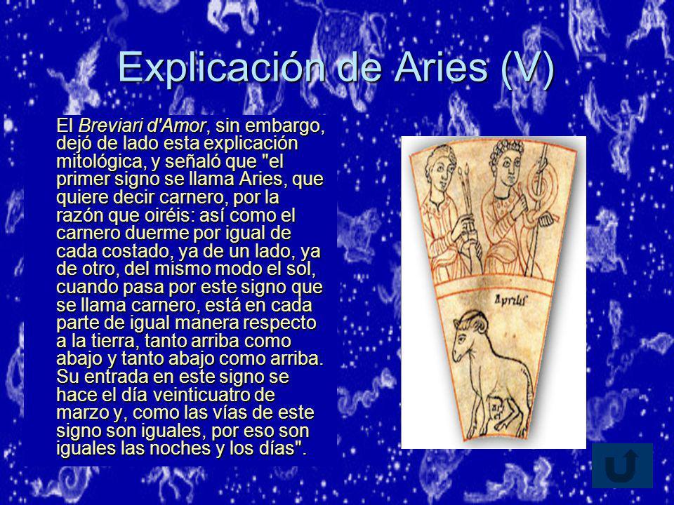 Explicación de Aries (V)
