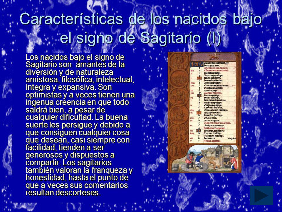 Características de los nacidos bajo el signo de Sagitario (I)