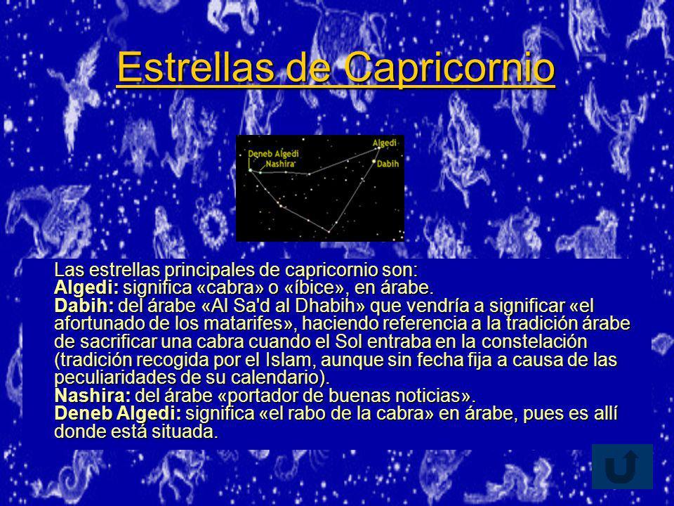 Estrellas de Capricornio