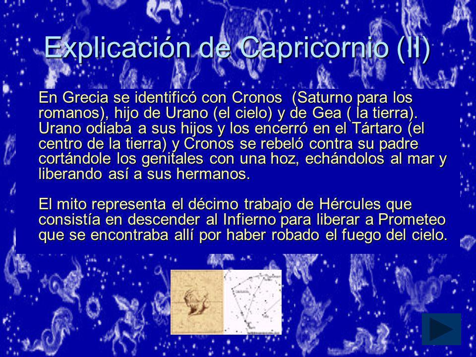 Explicación de Capricornio (II)