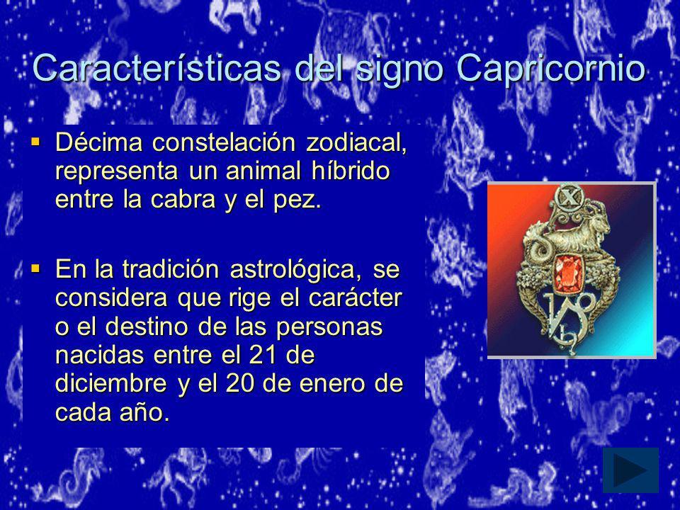 Características del signo Capricornio
