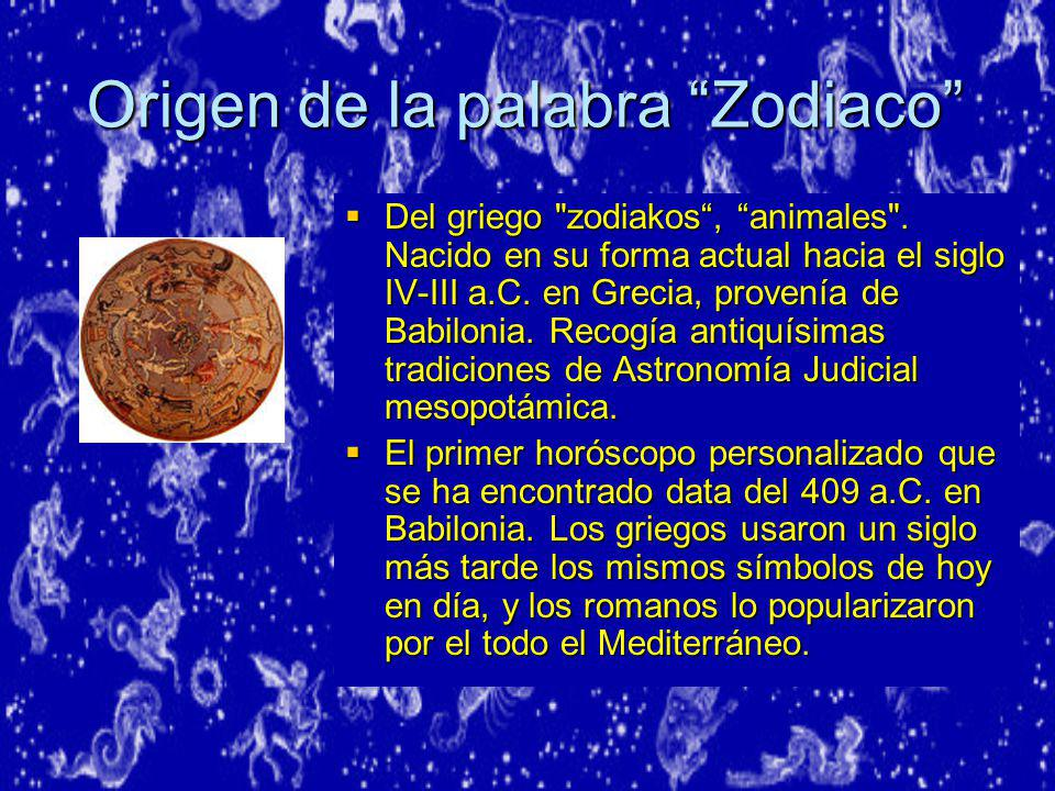 Origen de la palabra Zodiaco