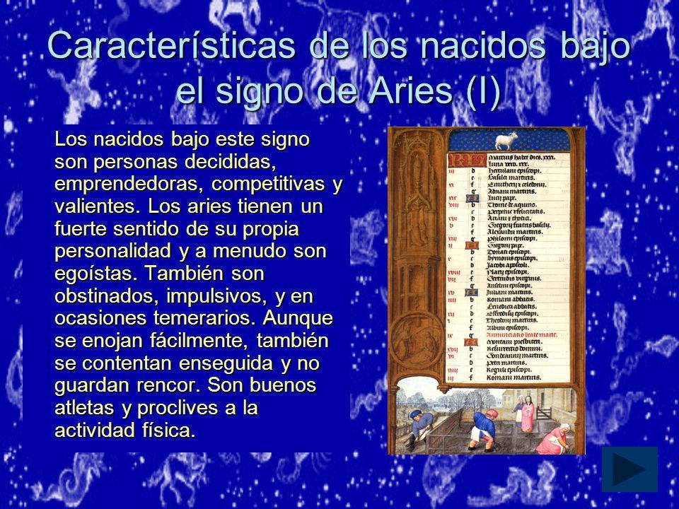 Características de los nacidos bajo el signo de Aries (I)