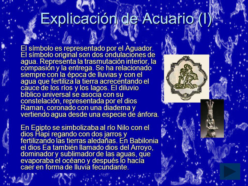Explicación de Acuario (I)