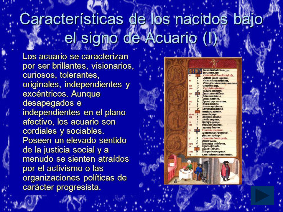 Características de los nacidos bajo el signo de Acuario (I)