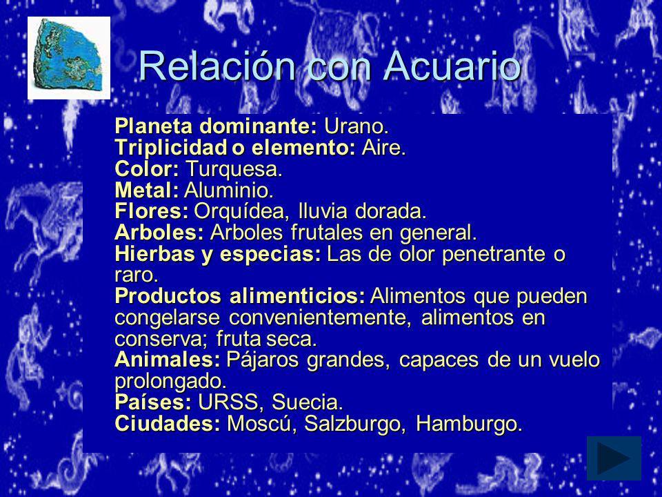 Relación con Acuario