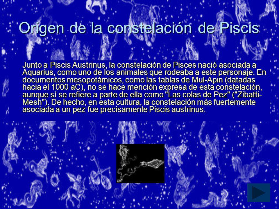 Origen de la constelación de Piscis