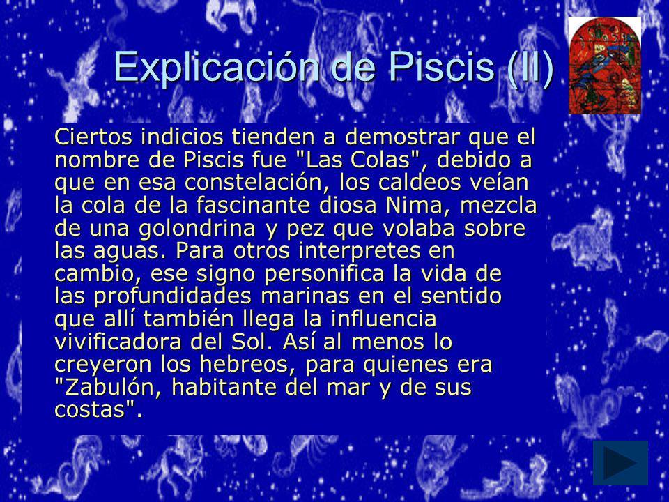 Explicación de Piscis (II)