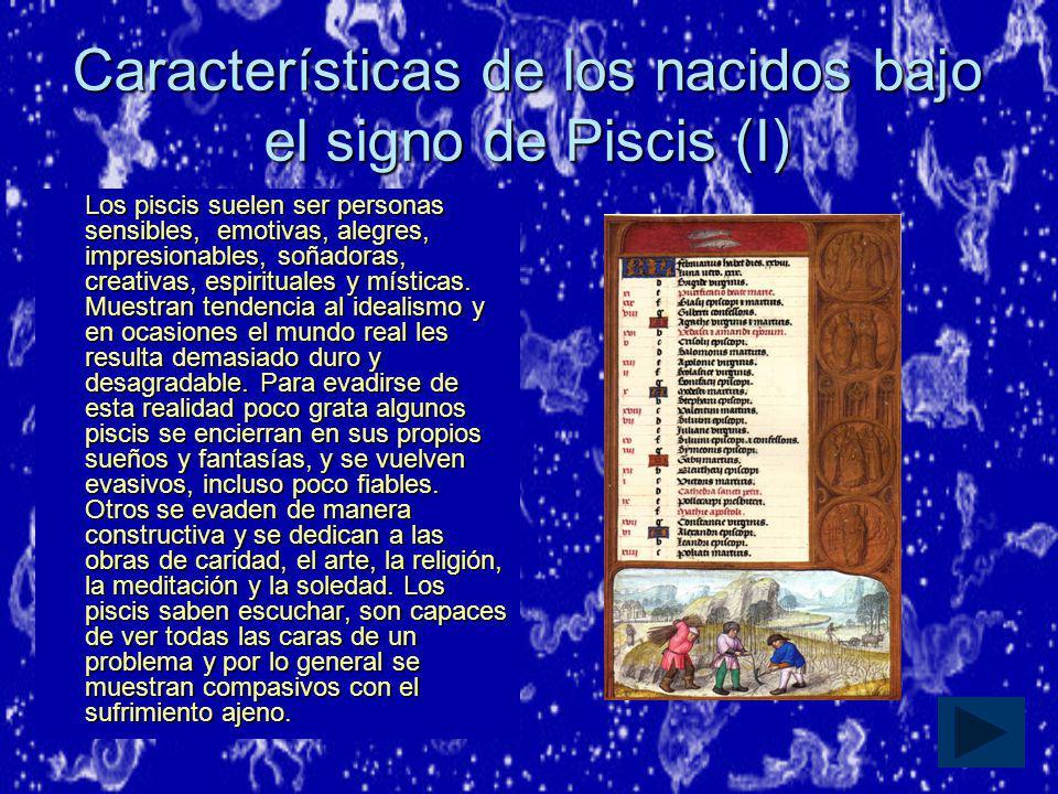 Características de los nacidos bajo el signo de Piscis (I)