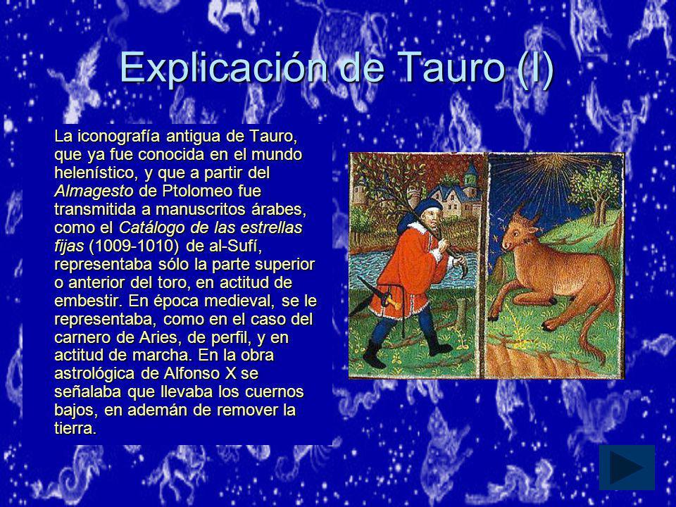 Explicación de Tauro (I)