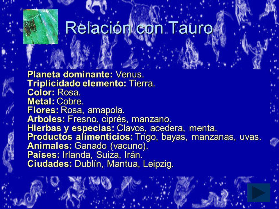 Relación con Tauro