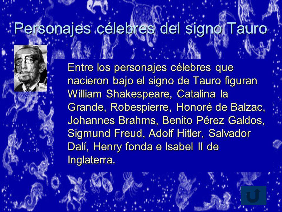 Personajes célebres del signo Tauro