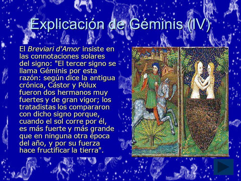 Explicación de Géminis (IV)