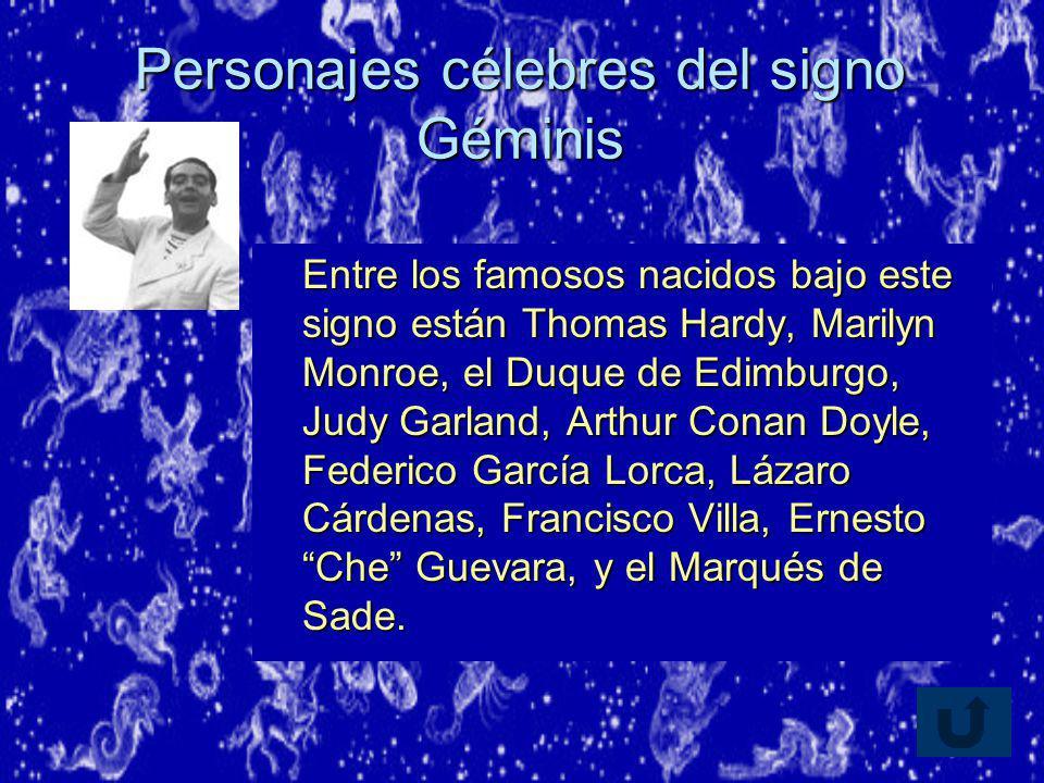 Personajes célebres del signo Géminis