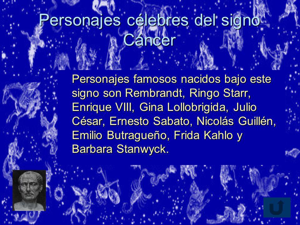 Personajes célebres del signo Cáncer