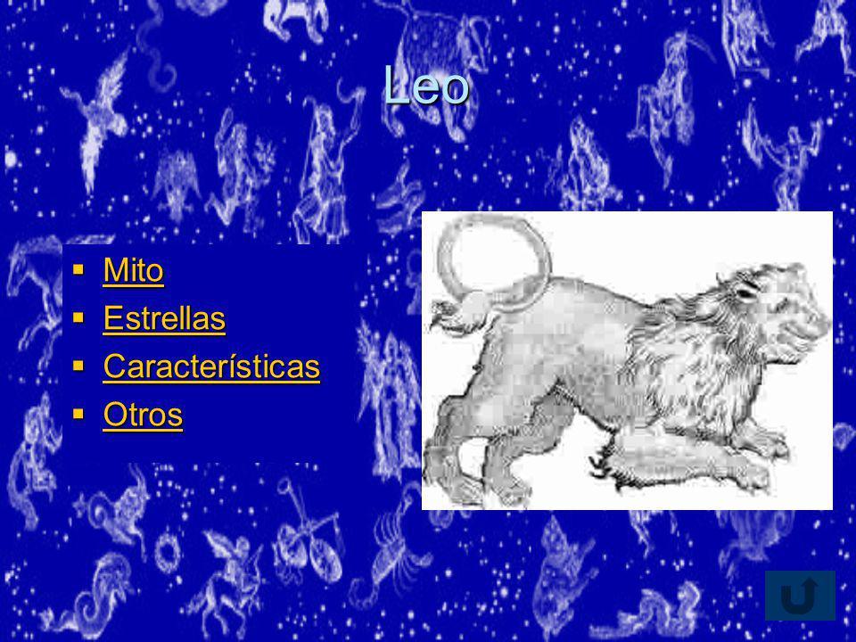 Leo Mito Estrellas Características Otros