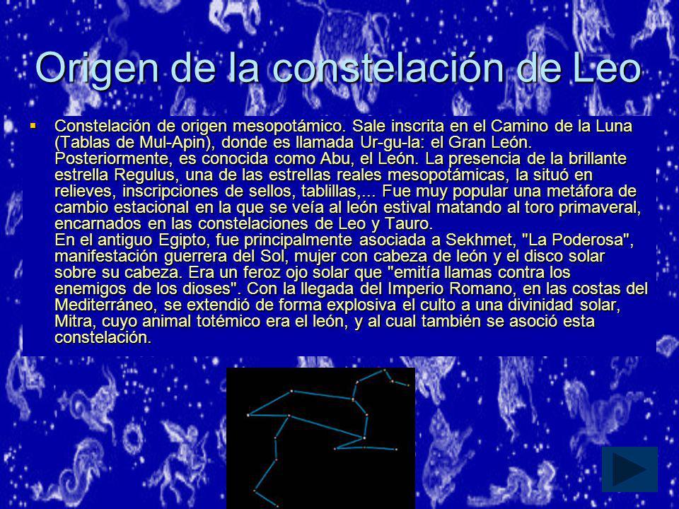 Origen de la constelación de Leo