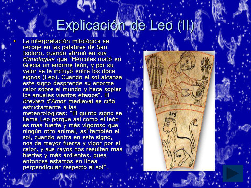 Explicación de Leo (II)