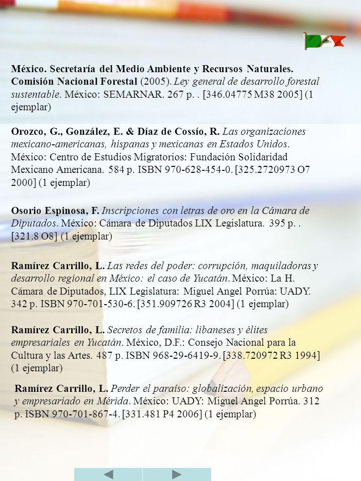 México. Secretaría del Medio Ambiente y Recursos Naturales