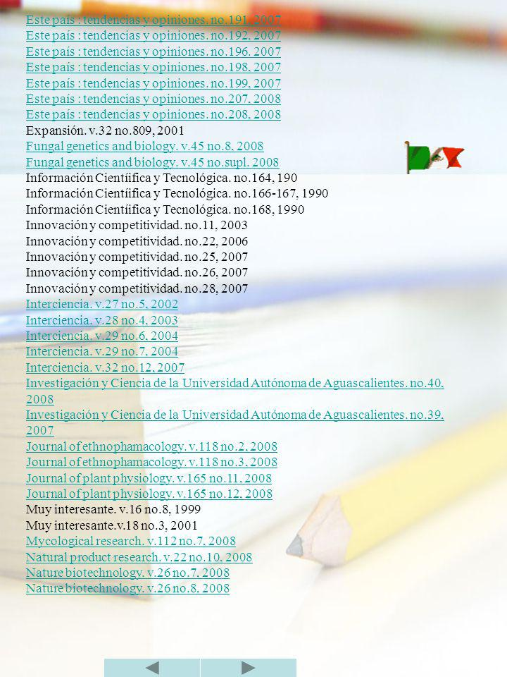 Este país : tendencias y opiniones. no.191, 2007