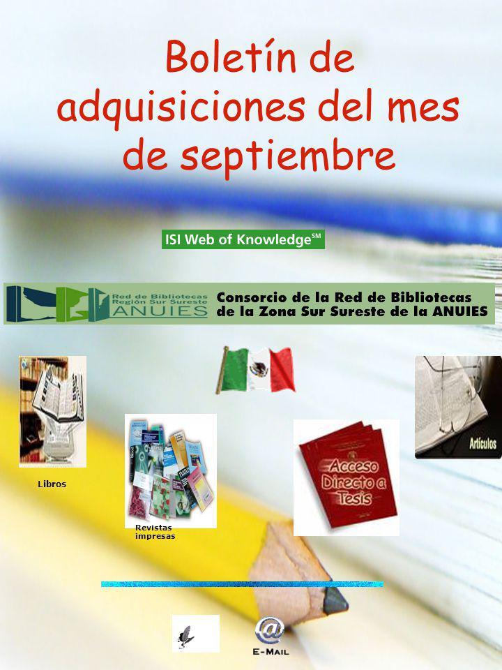 Boletín de adquisiciones del mes de septiembre