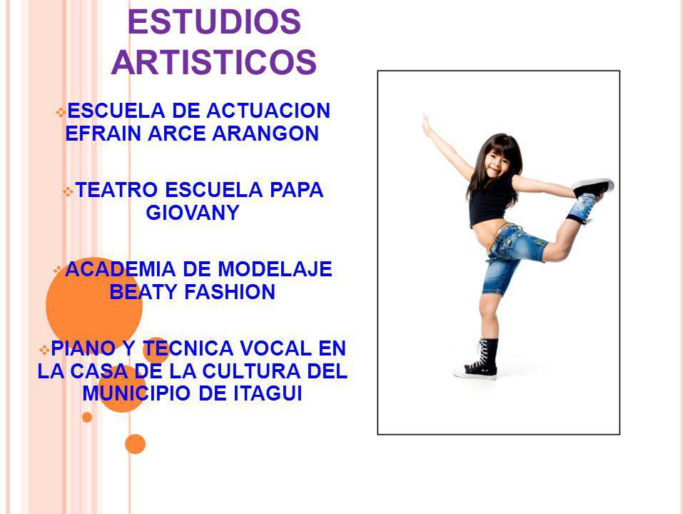 ESTUDIOS ARTISTICOS ESCUELA DE ACTUACION EFRAIN ARCE ARANGON