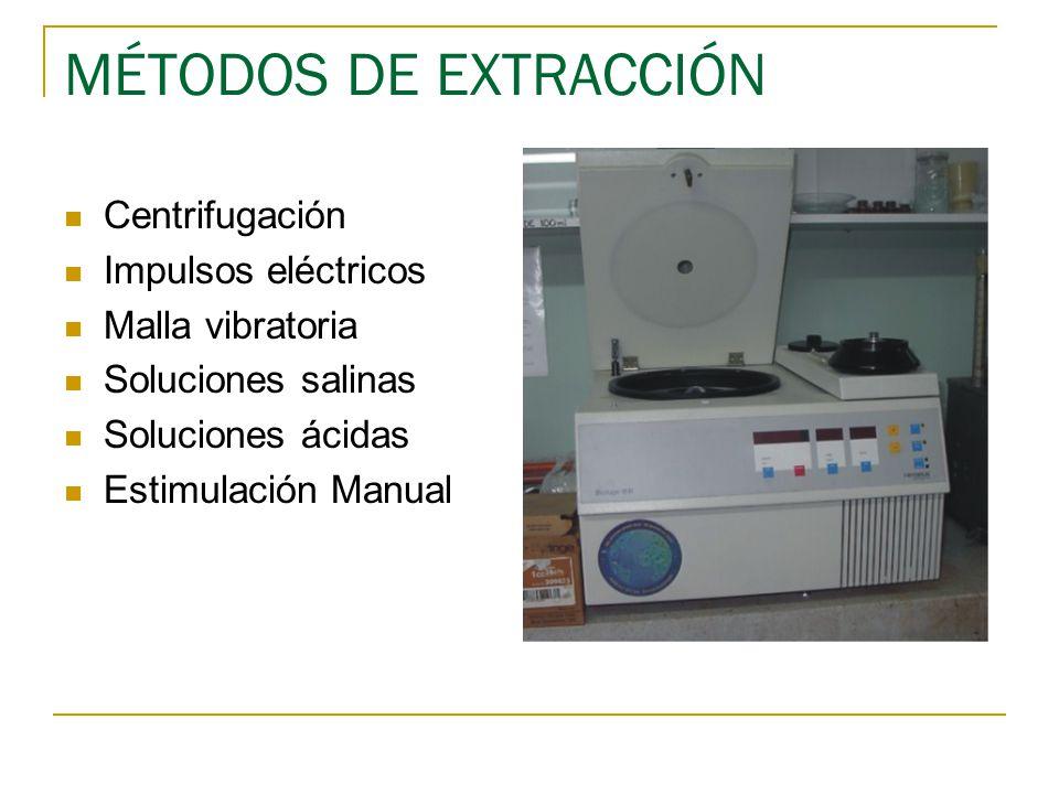 MÉTODOS DE EXTRACCIÓN Centrifugación Impulsos eléctricos